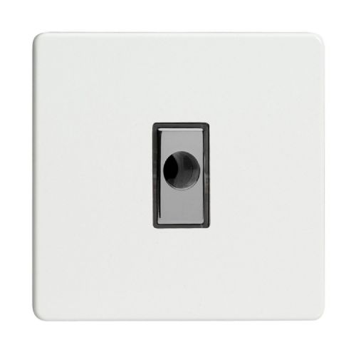 Varilight XDQFODS Screwless Premium White 1 Gang 16A Flex Outlet Plate